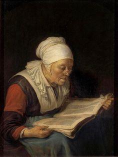 Old Woman reading a Book, by Gerrit o Gerard Dou Reading Art, Woman Reading, Reading Books, Rembrandt, Gerrit Dou, Pick Art, Dutch Golden Age, Hermitage Museum, Dutch Painters