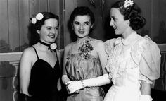 https://flic.kr/p/7TDF7o | Some of the dancers at the annual Dental Ball, Brisbane, 1940 | Photographer: Unidentified  Location: Brisbane, Queensland, Australia  Date:  14 May 1940  Description:  Flowers finished the toilettes of both Miss Nesta Massle (middle) and Mrs Jack Ross (right) who were caught chatting in their alcove.  Cartoons and character sketches of members of the teaching staff - one depicting the Dean of the faculty knitting socks for the comfort's group - decorated the…