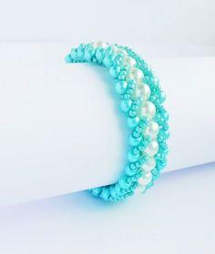 Bratara din perle de sticla si margele Toho - http://ift.tt/2aiYmIr