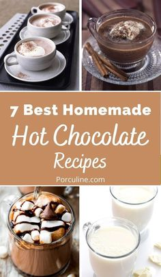 Hot Chocolate Recipe Easy, Homemade Hot Chocolate, Hot Chocolate Bars, Cocoa Recipes, Coffee Recipes, Drink Recipes, Snack Recipes, Yummy Drinks, Delicious Desserts