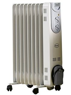 Oil Filled Radiator with Timer - White