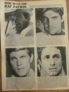 The Rat Patrol, The Grass Roots, Full Page Vintage Clipping