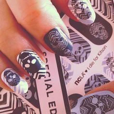 ncla x kitson skull + chevron nail foils