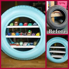 Turn An Old Tire Into This Awesome Hot Wheels Or Matchbox Etc Car Display