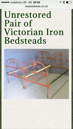 Twin beds iron