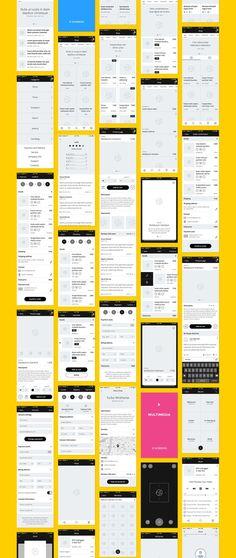 Restaurant Mobile App : How will it help me? App Wireframe, Wireframe Design, App Ui Design, Flat Design, Design Design, Dashboard Design, Web Mobile, Mobile Web Design, Mobile App Ui