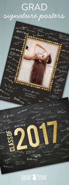 Grad party signature posters. The perfect keepsake for your graduate!