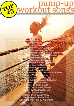 Work out harder and longer with the help of these 25 workout songs! Spotify download included!