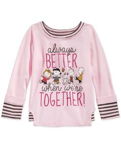 Peanuts Little Girls' Always Better When We're Together Top