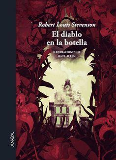 'El diablo embotellado', un clásico de Robert Louis Stevenson ilustrado por Raúl Allén en Relatos Ilustrados de Anaya.