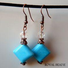 Antique Coppertone & Turquoise Earrings by RoyalBeadz on Etsy