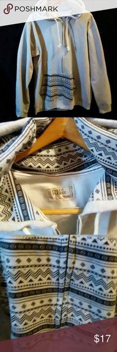 Aztec Print Hoodie XL (Men's Large) Aztec Print on hoodie pockets and hood. Size Men's Large, fits like Women's XL.  Worn once, excellent condition. Free Planet Jackets & Coats