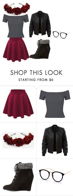 """""""outfit"""" by hjeanb on Polyvore featuring Miss Selfridge, LE3NO and Charlotte Russe"""