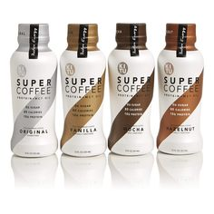Kitu by Sunniva Super Coffee 4 Variety Pack Sugar-Free Formula, Protein, Keto Approved,¡ - Daily Buy Tips - Drink Protein Coffee, Beverage Packaging, Coffee Packaging, Milk Packaging, Green Coffee Extract, Coffee Design, Bottle Design, Natural Flavors, Coffee Drinks