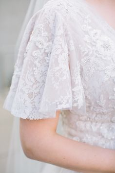 Flutter sleeves on wedding dress. Lace and beading on wedding dress. Wedding dress with sleeves. Conservative wedding dress Popular 2019 Summer Beach Wedding Dresses Off The Shoulder A-line Lace Tulle Bridal Gowns Wedding Dress Suit, Lace Wedding Dress With Sleeves, Western Wedding Dresses, Modest Wedding Dresses, Designer Wedding Dresses, Bridal Dresses, Dresses With Sleeves, Dress Lace, Wedding Gowns