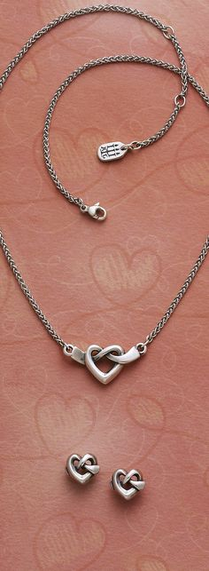 3e8084367cd1 Heart Knot Necklace and Ear Posts  jamesavery James Avery Heart Necklace