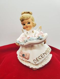 #artcollectibles #collectibles #figurinesknickknacks #vintage #antique #birthdayangel #spaghettiangel #figurine #perfectcondition #ceramic #angel #birthday #december #bluetopaz #orimco #fathersdaygift Birthday Angel, May Birthday, Singing Happy Birthday, Birthday Presents, December Birthday, Dollhouse Dolls, Christmas Jewelry, Yellow Leather, Vintage Pins