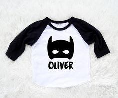 Custom Name Batman Kids/Toddler Unisex or Glitter by SofSBoutique