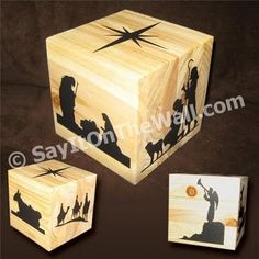 "nativity --- The CrEaTiVe CraTe: Spotlight: ""SayItOnTheWall"" vinyl decor The Nativity Story, Nativity Crafts, Christmas Nativity, A Christmas Story, All Things Christmas, Christmas Holidays, Christmas Decorations, Christmas Ornaments, Nativity Scenes"