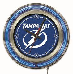 "Clock 15"" Dia. - Tampa Bay Lightning"
