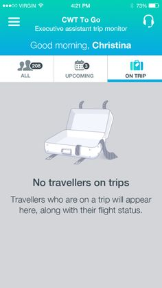No travellers on trips in CWT To Go app for iPhone