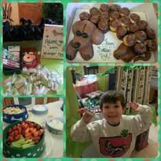 Reid's wiener dog birthday party! I found a seamstress to make 15 wiener dogs (very basic, pretty much just the shape. It was about the same price as buying stupid little goodies for bags) I made adoption certificates and eyes and bows/ribbon for collars do the kids could then decorate their