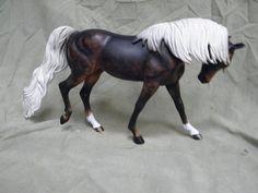 Breyer Horse Statue OOAK CM/Custom Arabian (Oasis/Make A Wish) Black Chestnut