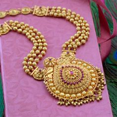 Explore the trendy collection of gold necklace set at Waman Hari Pethe Sons. Gold Mangalsutra Designs, Gold Earrings Designs, Necklace Designs, Gold Jewelry Simple, Gold Jewellery, Handmade Jewellery, Gold Bangles, Gold Chain Design, Charms