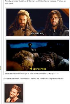 I always wondered why Kili had that intense look on his face! #TheHobbit