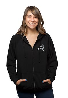 Size medium. How is a Star Wars anime not a real thing yet? Show the world what we're missing with detailed anime-character art of Star Wars characters on the back of this black full-zip ladies' hoodie.