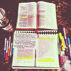 """bible """"study"""" in addition to just reading it.  Studying the Bible should affect your life rather than just filling your head with more knowledge. The Bible is meant not to satisfy your curiousity, but to transform you."""