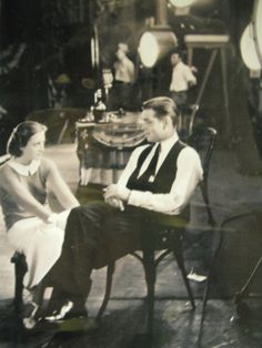 Candid 1930s photo of Clark Gable and Joan Crawford by yonderyears, $8.99