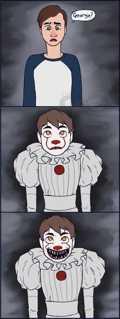 That's Not Georgie by Kialish Turtle Burger, Movie Logic, Le Clown, Creepy Cute, Freelance Illustrator, Comic Artist, Art Blog, Horror Movies, Cute Boys