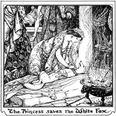 The Comb and the Collar    H.J. Ford    Andrew Lang, The Olive Fairy Book