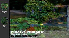 Simsworkshop: Vines & Pumpkin 1.0  Plants Set  by ConceptDesign97 • Sims 4 Downloads