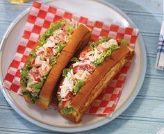 Tre Stelle® Recipes - Havarti lobster salad in a bun Entree Recipes, Fish Recipes, Lunch Recipes, Seafood Recipes, Dinner Recipes, Lobster Fishing, Havarti Cheese, Lobster Salad, Winner Winner Chicken Dinner
