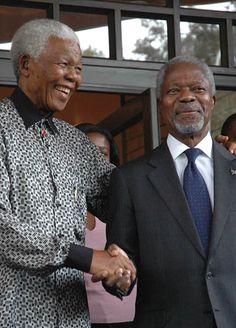 President Mandela - and Kofi Annan