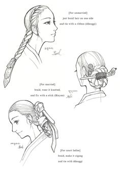 Hanbok, Womens' Hair by Glimja on deviantART