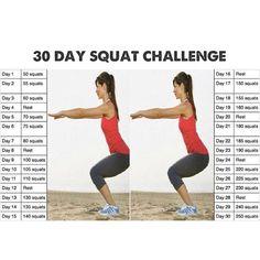 30-Day Squat Challenge Calendar | Mumma G!: 30 Day Squat Challenge
