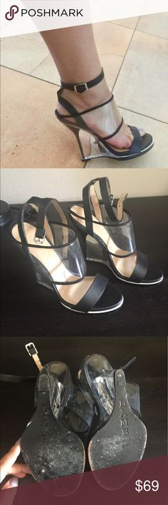 L.A.M.B heels 👠 LAMB heels. Used just twice. They are in excellent condition and look so fancy. L.A.M.B. Shoes Heels