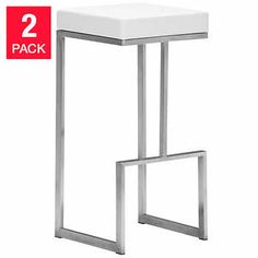 Echo White Barstool 2-pack