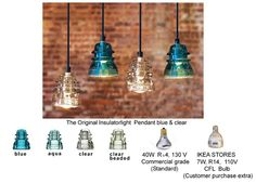 telegraph insulator pendants