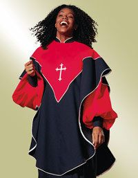 Back Product Description Designed to pair with our Murphy Epiphany choir robe, Overlay features a white embroidered Latin Cross. Slips on over the head and closes on one shoulder with Velcro. Choir Uniforms, Choir Dresses, Gospel Concert, Friday Holiday, Coral, First Communion Dresses, Light In The Dark, Overlays, Christian