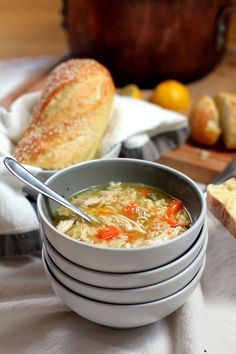 veggie packed chicken and stars soup