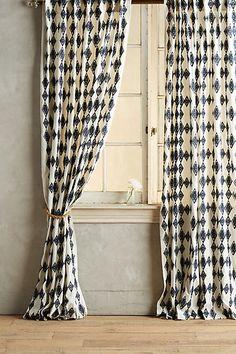 Dining Room Drapery - Tumbling Diamonds Curtain - anthropologie.com