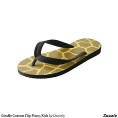 Giraffe Custom Flip Flops, Kids