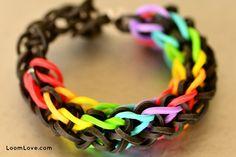 ziagonal rainbow loom bracelet