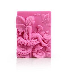 Floral Fairy Silicone Soap Mold mold Handmade Flexible Mold Cake Mold