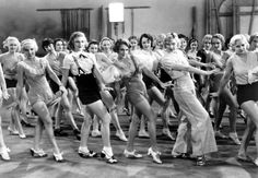 chorus girls  From 42nd Street, Ruby Keeler front and center