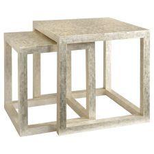 2-Piece Vera Capiz Nesting Table Set